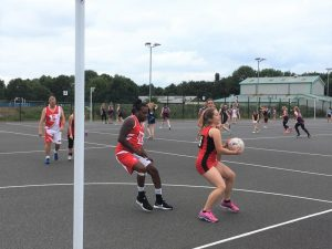 Oxfordshire Netball 65th birthday - charity tournament.        DNC vs England Men's team.